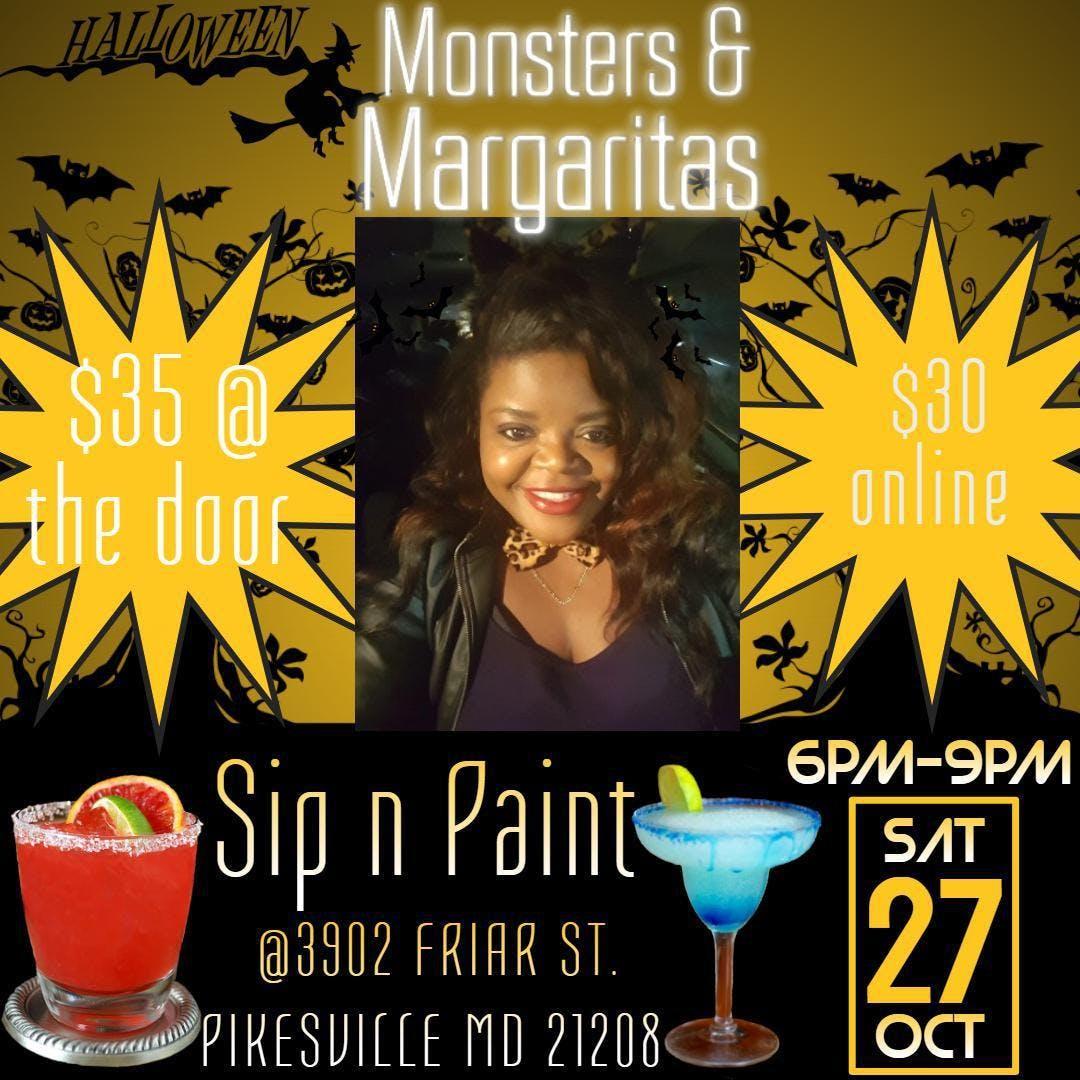 Monsters Margaritas Sip N Paint 27 Oct 2018