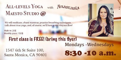 All- Levels Yoga Class tickets