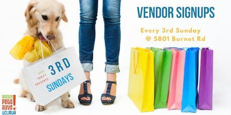 3rd Sunday Vendor Signups tickets
