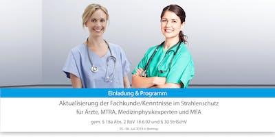 Aktualisierung der Fachkunde/Kennnisse nach RöV u. StrlSchV