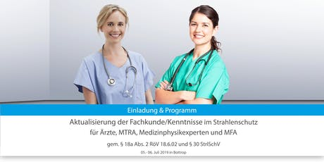 Aktualisierung der Fachkunde/Kenntnisse nach RöV u. StrlSchV Tickets