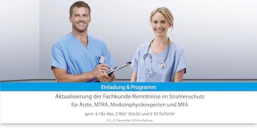 Aktualisierung der Fachkunde/Kenntnisse nach RöV u. StrlSchV