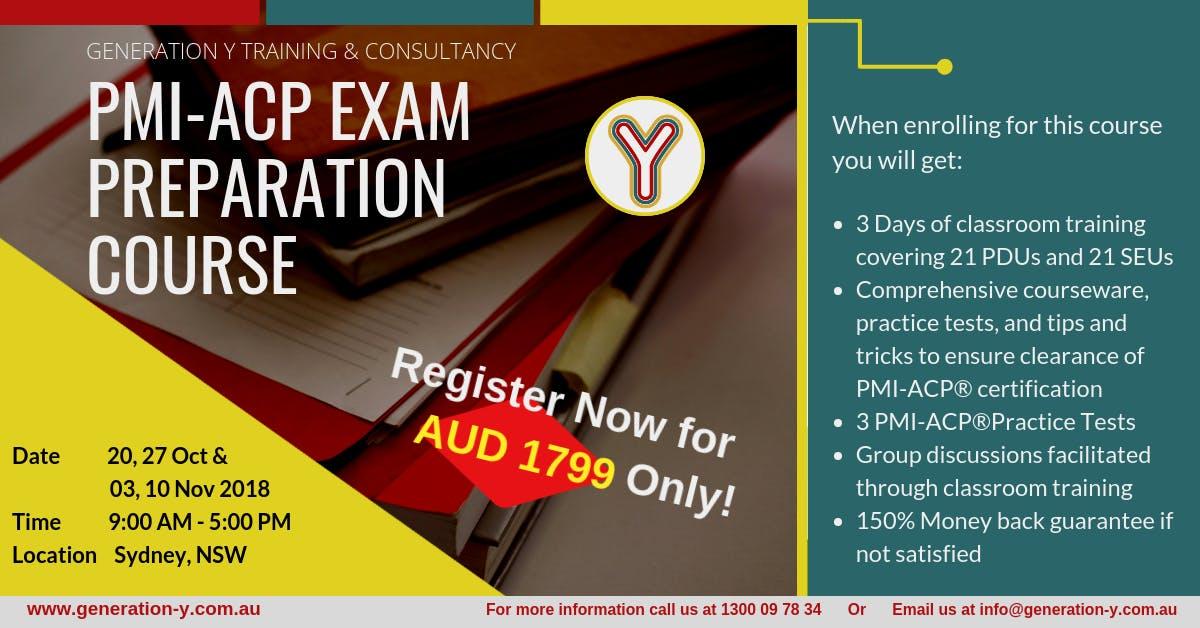 Pmi Acp Exam Preparation Course Classroom Saturdays Batch 20