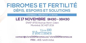 Fibromes & fertilité : défis, espoirs, solutions.