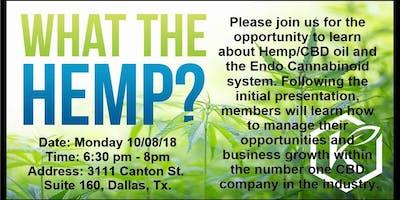 CBD OIL EDUCATION AND TRAINING - Dallas - November Thursday 8 2018 6:3