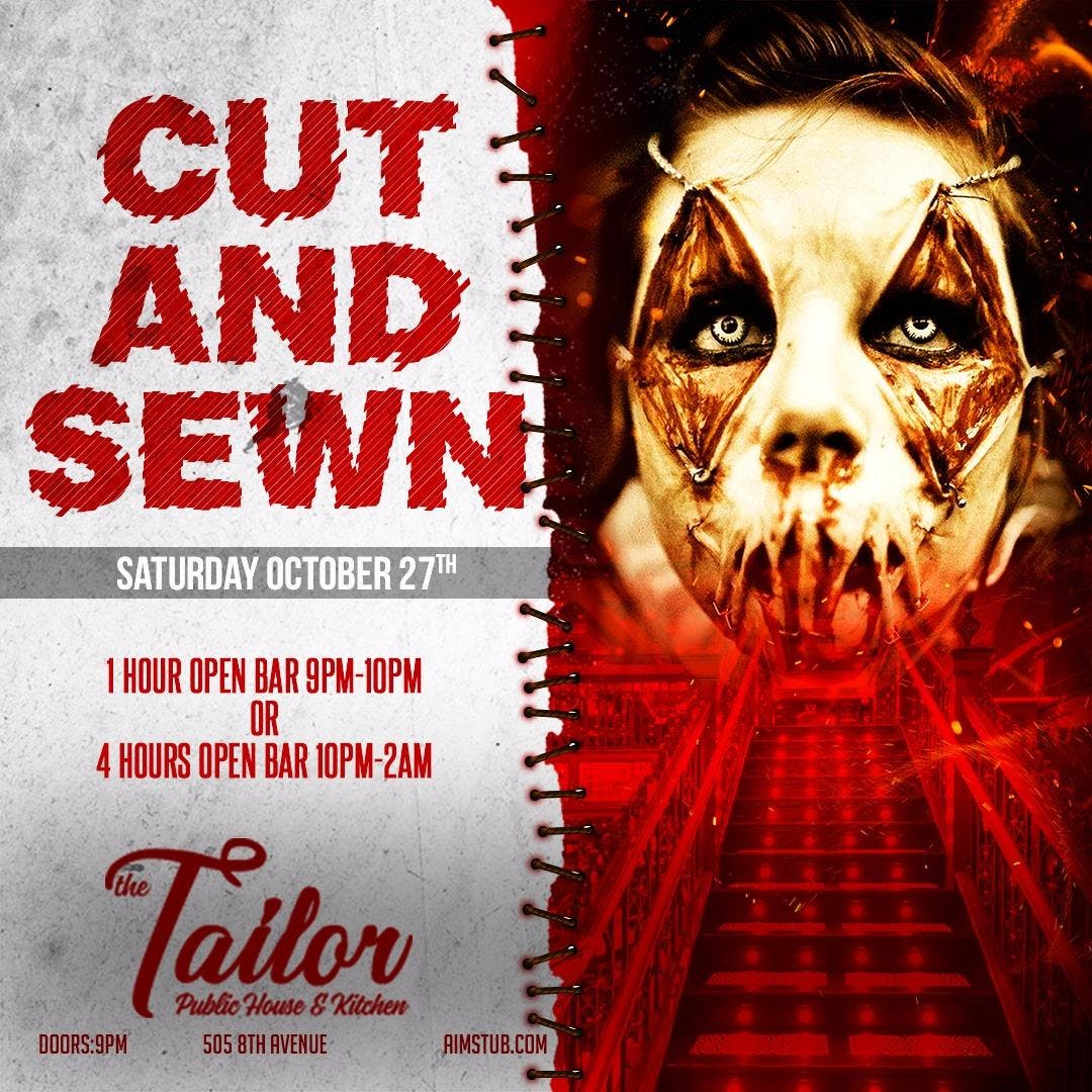 Cut and Sewn at The Tailor Halloween Party w/
