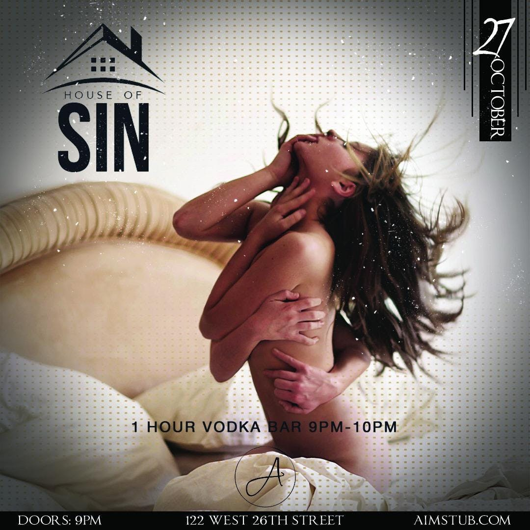 House of Sin at Ainsworth Chelsea Halloween Party Open Vodka Bar 9-10pm
