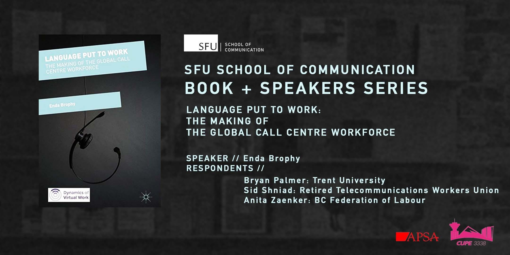 book speakers series language put to work the making of the global call centre workforce