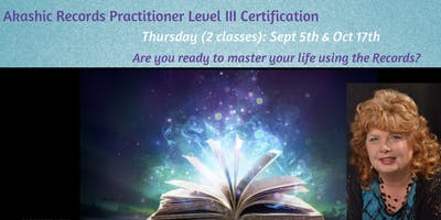 Akashic RecordReader Practitioner Level III Certification (1 of 2)
