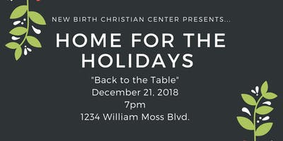 Home for the Holidays: Back to the Table
