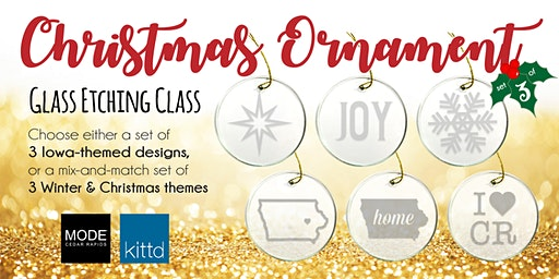 Christmas Ornament Glass Etching Class at MODE