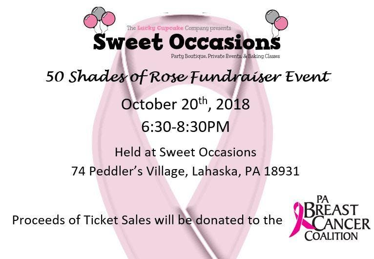 50 shades of rose fundraiser event 20 oct 2018