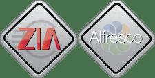 Alfresco and Zia Consulting logo