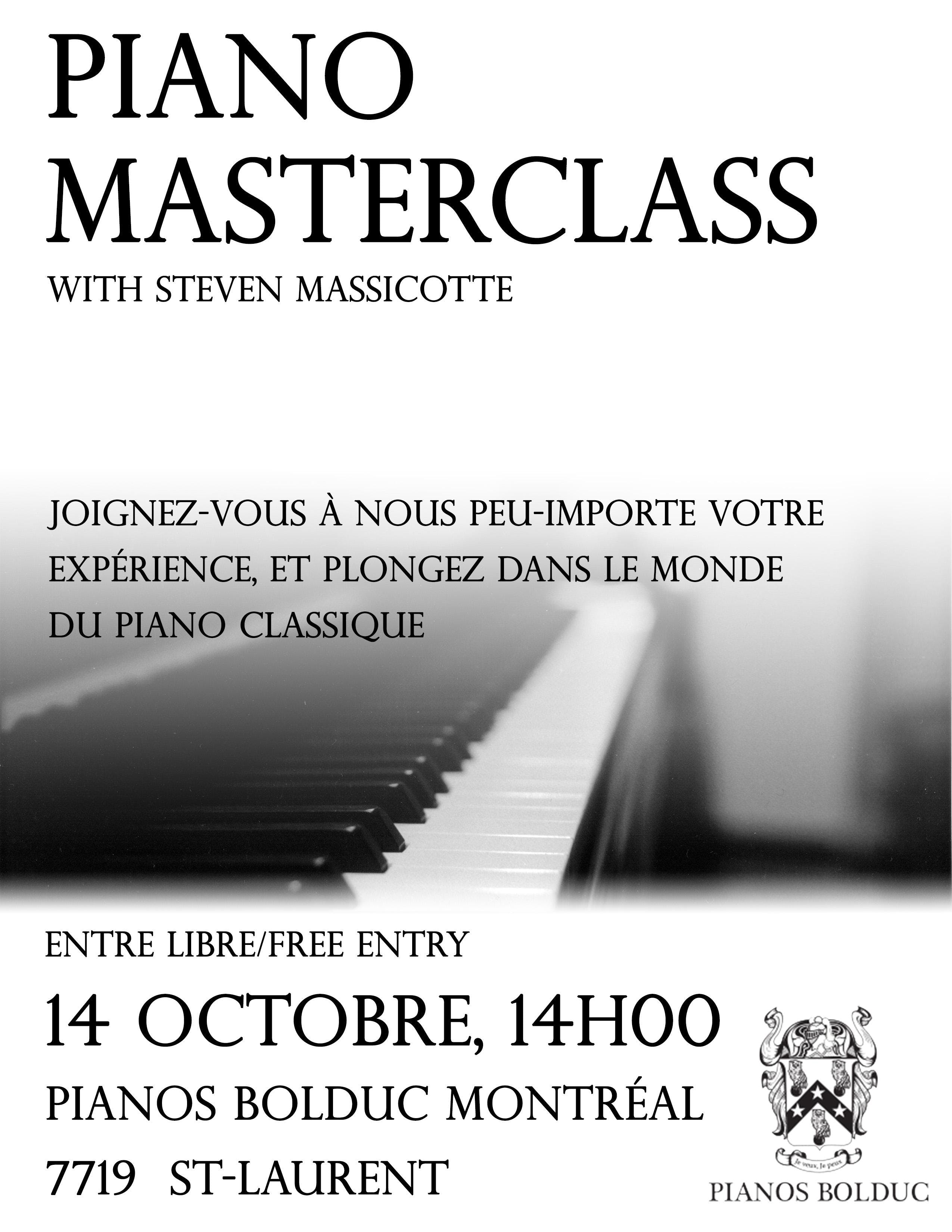 Piano Masterclass with Steven Massicotte