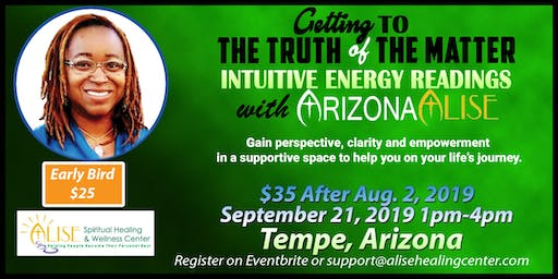 Intuitive Energy Readings with ArizonaAlise in Tempe, AZ