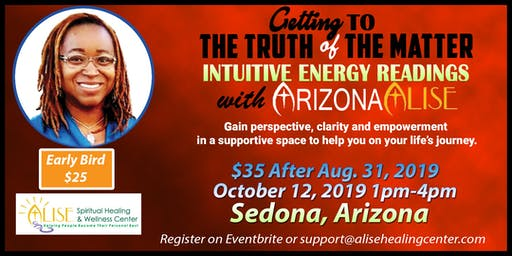 Intuitive Energy Readings with ArizonaAlise in Sedona, AZ