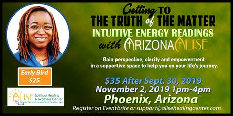 Intuitive Energy Readings with ArizonaAlise in Phoenix, AZ tickets