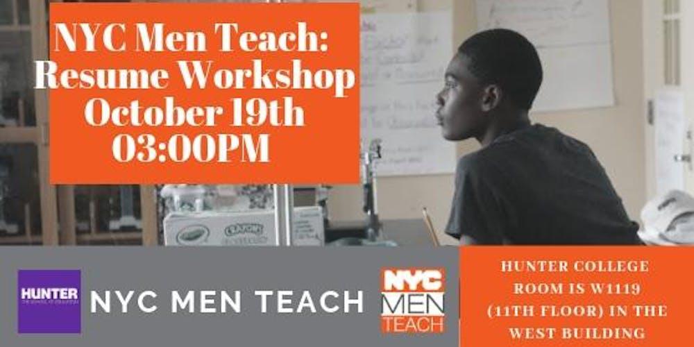 Nyc Men Teach Resume Workshop Tickets Fri Oct 19 2018 At 300 Pm