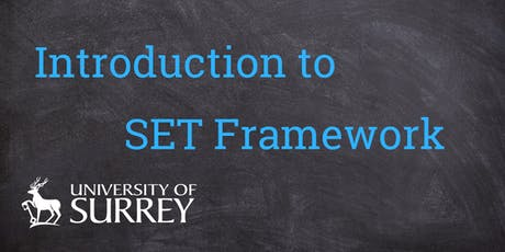 Introduction to Surrey Excellence in Teaching (SET) Framework tickets
