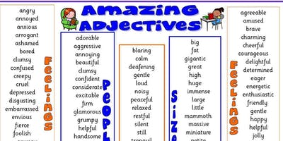 AMAZING ADJECTIVES WITH KIRSTY