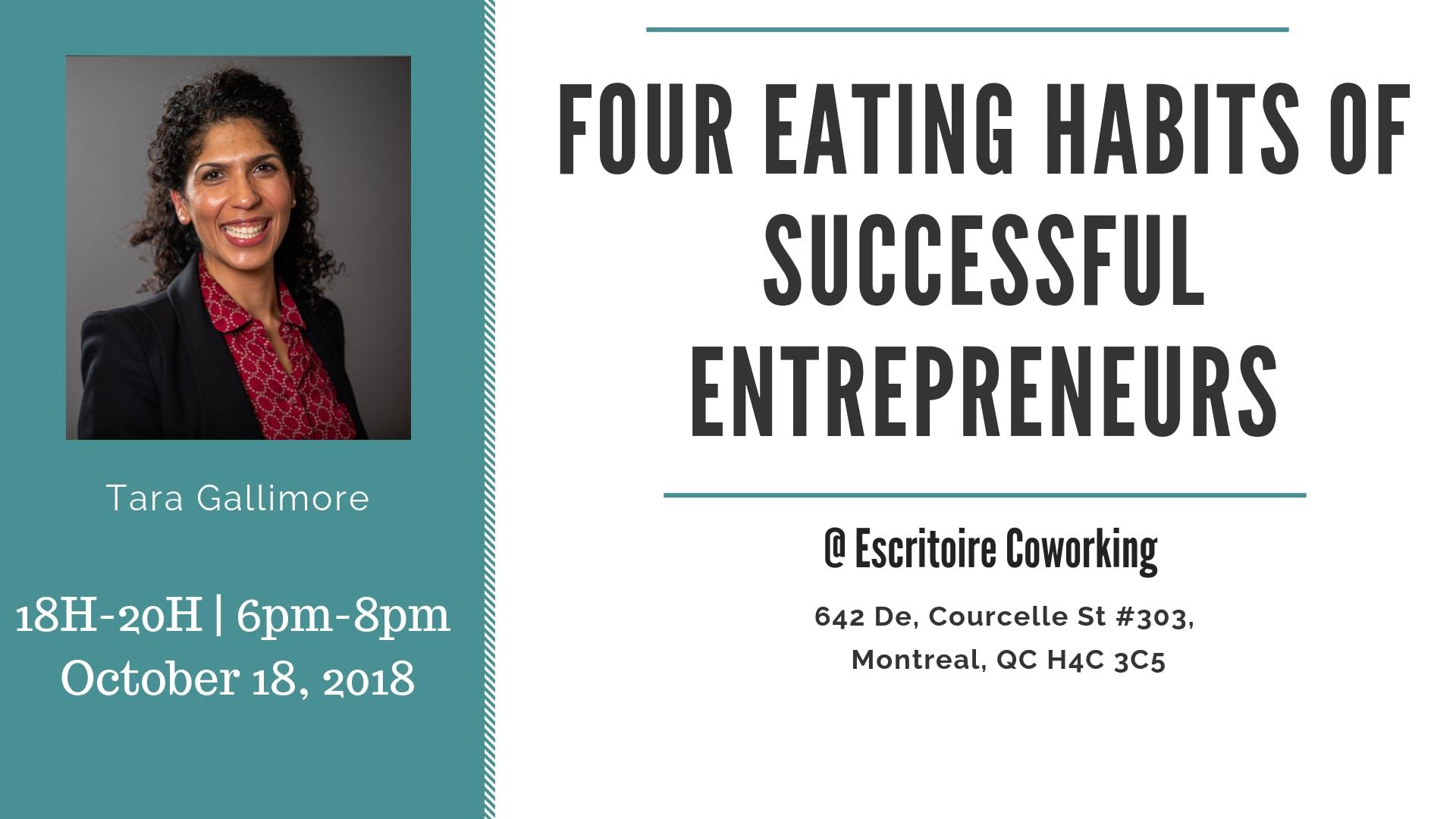 Four Eating Habits of Successful Entrepreneur