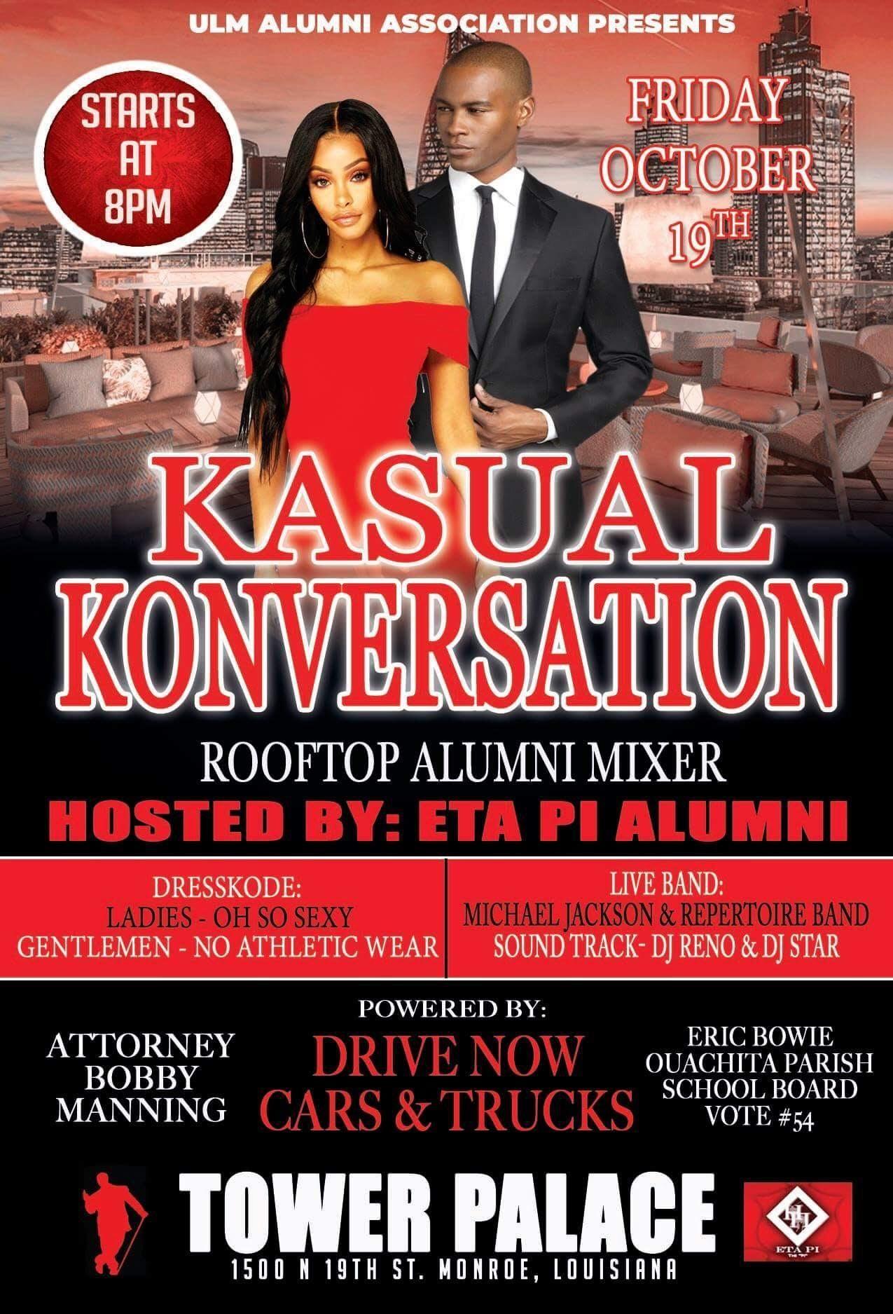 "Kasual Konversation Roof Top""ULM Social Mixer"