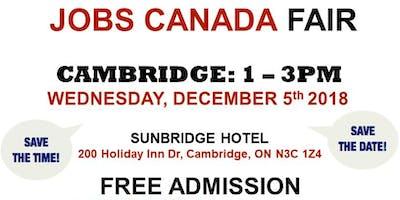 FREE: Cambridge Job Fair – December 5th, 2018