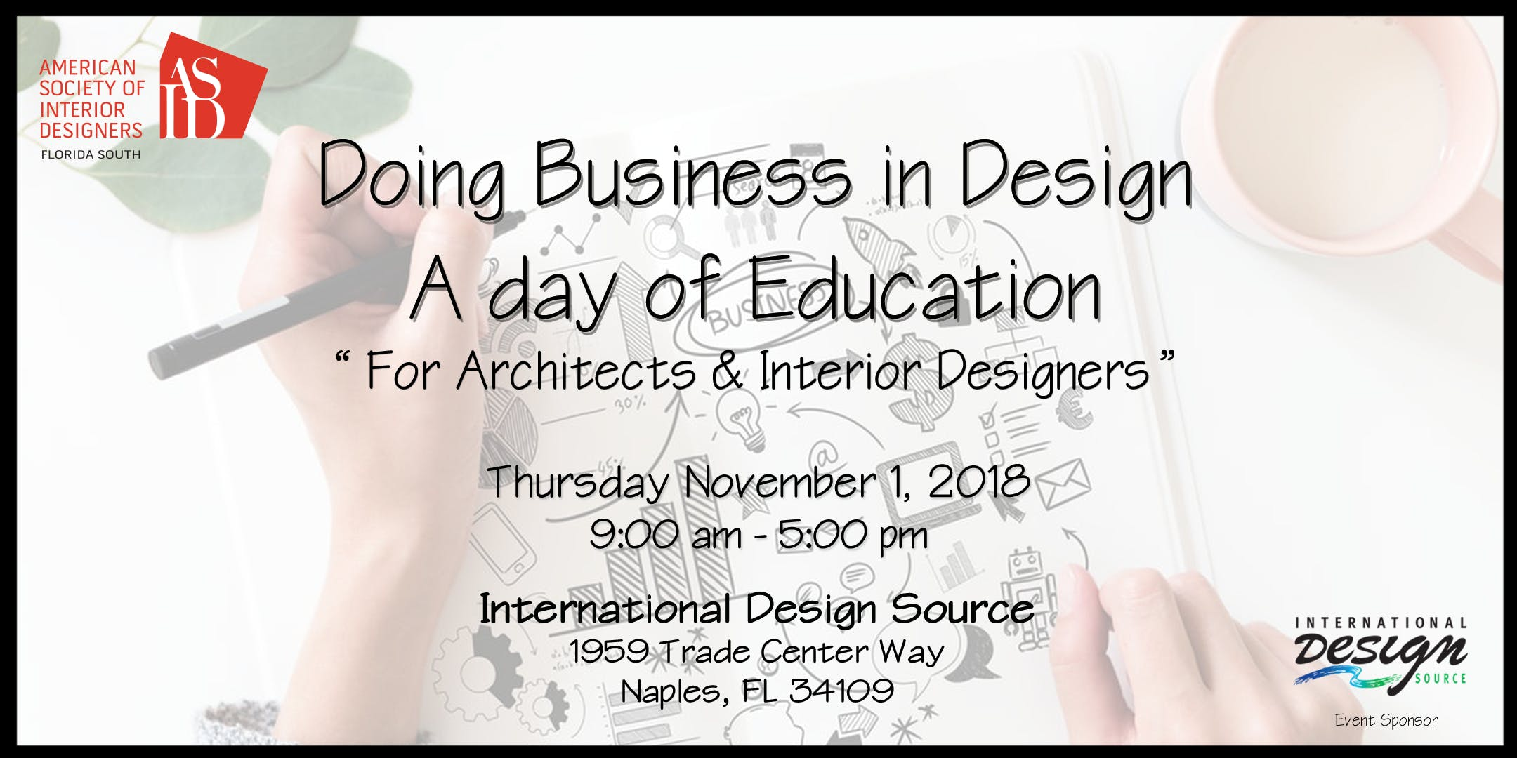 Doing Business In Design A Day Of Education Naples 1 Nov 2018