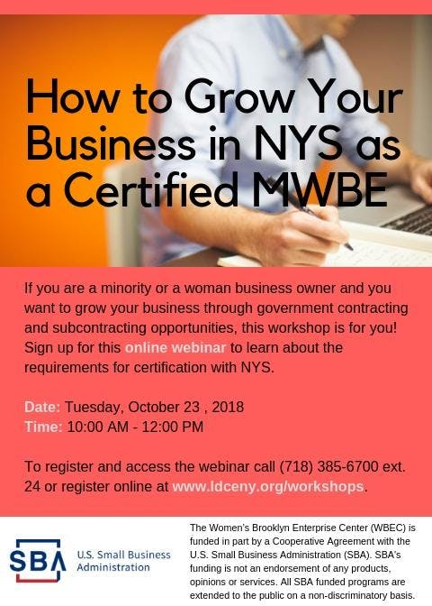Mwbe Certification Webinar 23 Oct 2018
