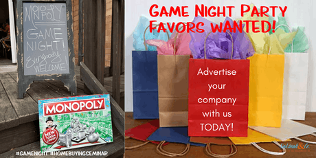 Swag Bag Opportunity Ing A Home Monopoly Style Tickets