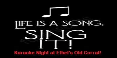 Wednesday Night Karaoke at Ethel's!