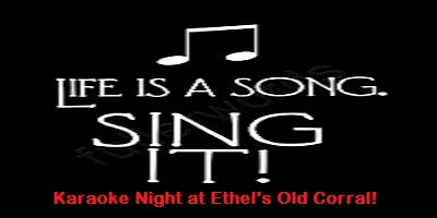 Wednesday Night Karaoke at Ethel's!