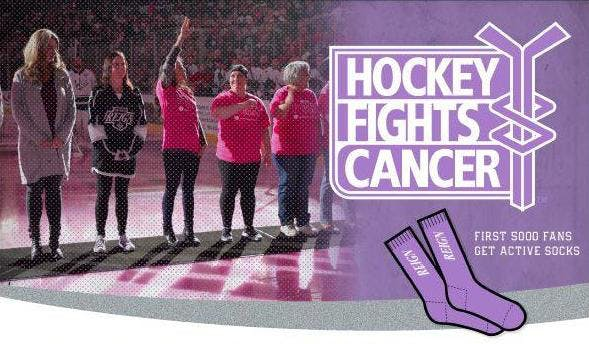 Ontario Reign `Hockey Fights Cancer` Game