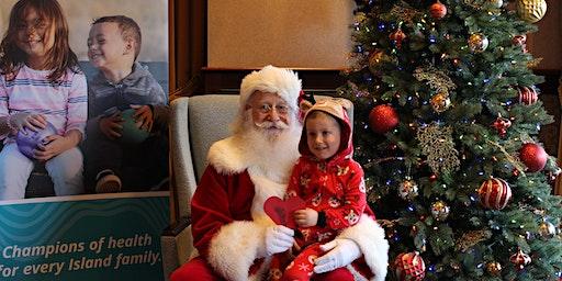 Pancakes in pajamas with Santa