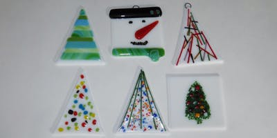 fused glass christmas ornament class
