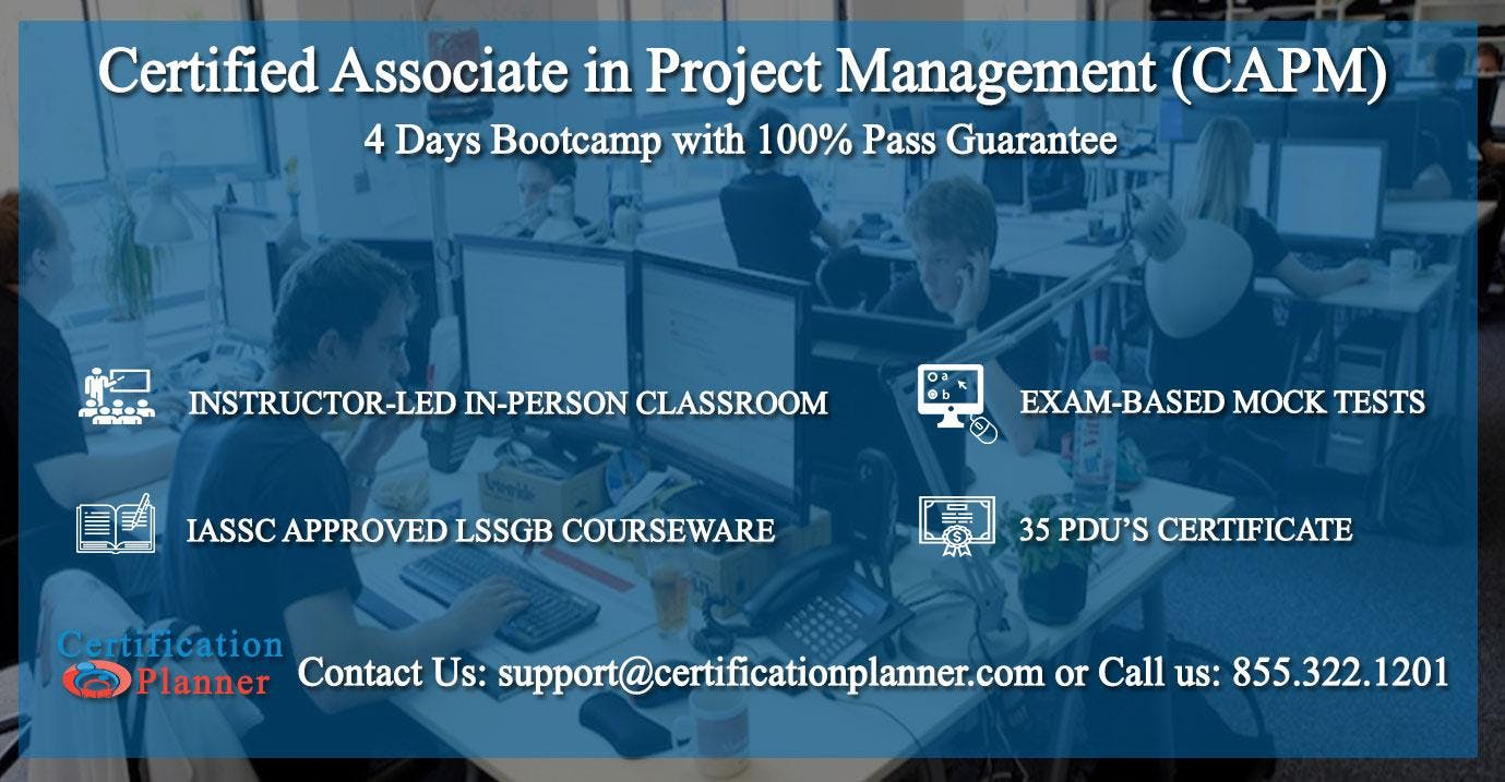 Certified Associate In Project Management Capm 4 Days Classroom In