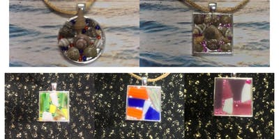 *Stained Glass and Seashell Pendant Making Class*