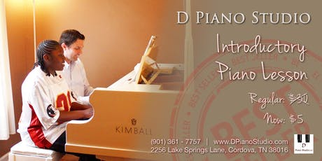 Introductory Piano Lesson $5 (83% off) tickets