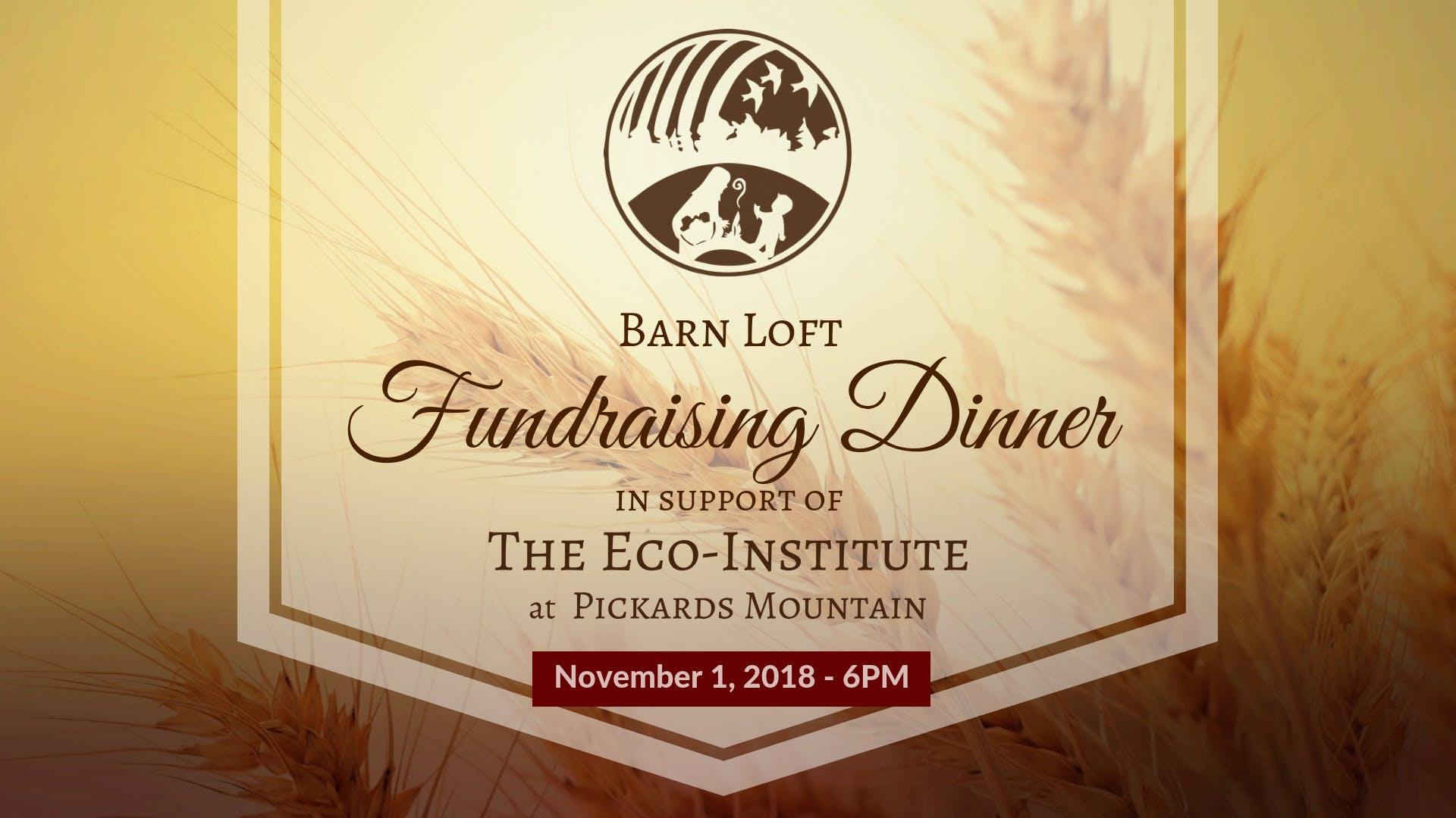 Barn Loft Fundraising Dinner For The Eco Institute 1 Nov 2018