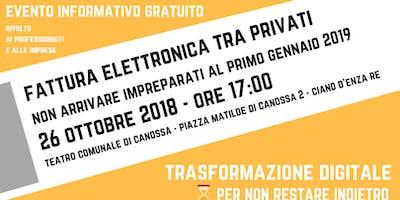 FATTURAZIONE ELETTRONICA - ISTRUZIONI PER L'USO - 26 10 2018