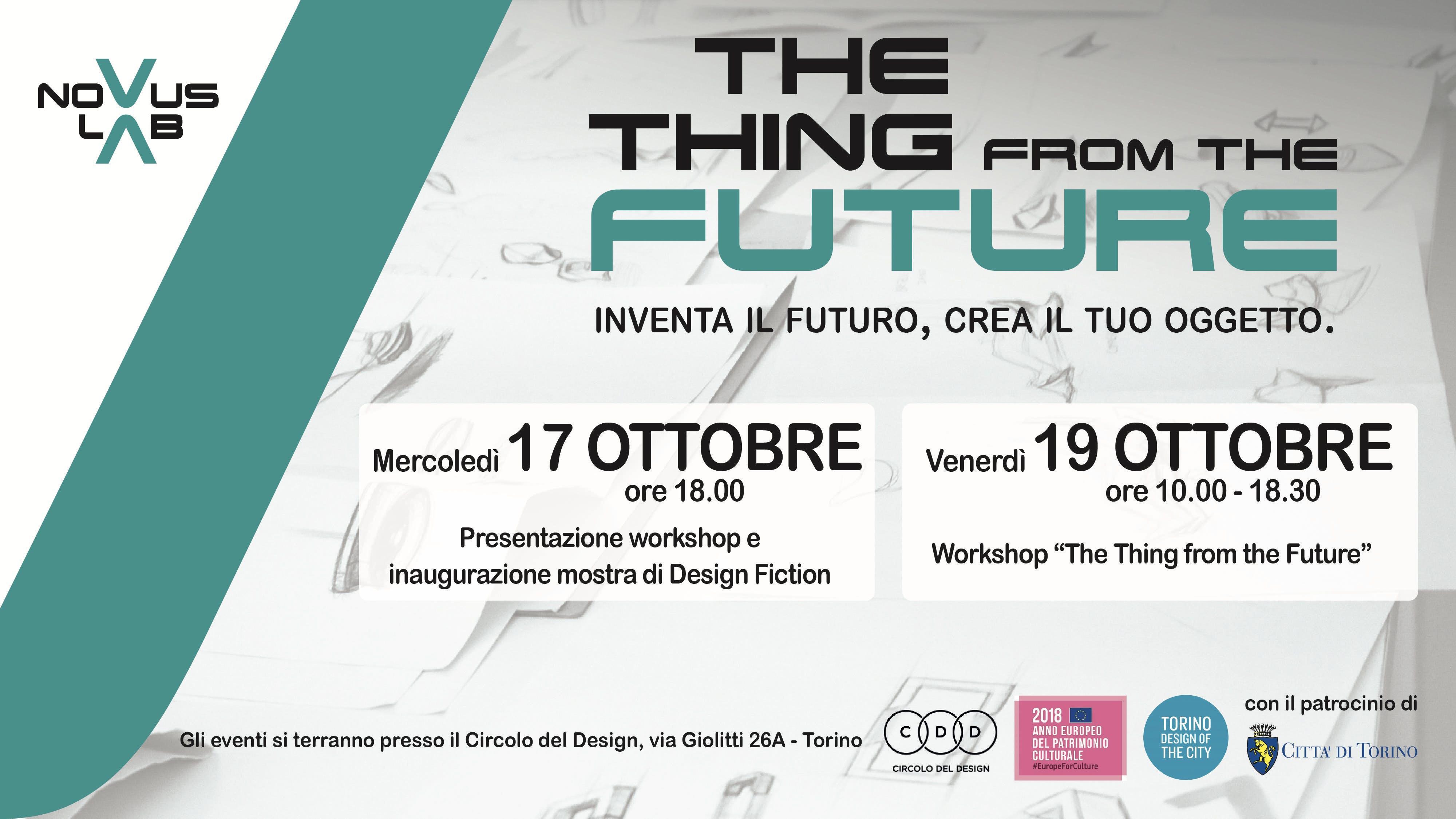 Il Design Fiction al Torino Design of the Cit