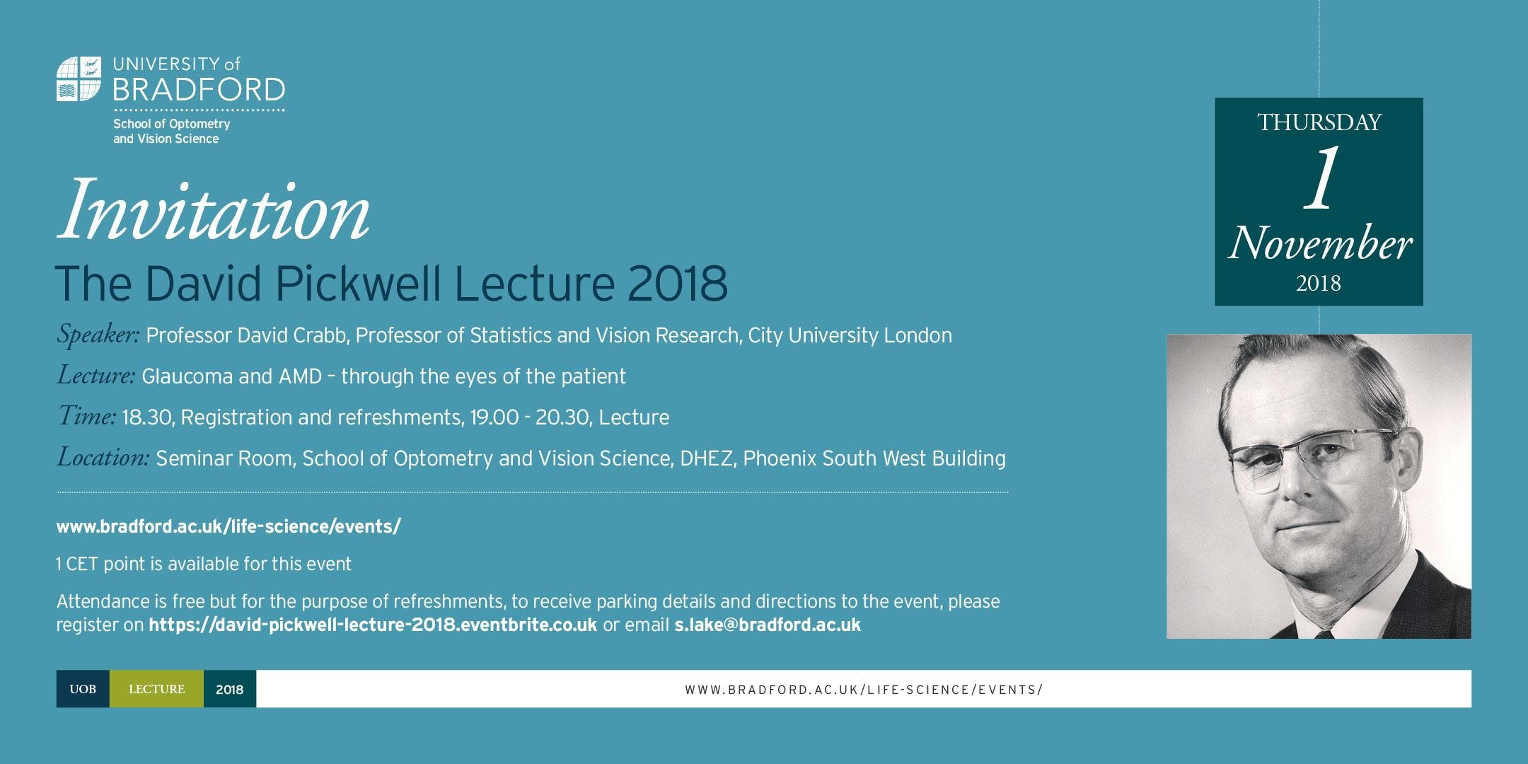 David Pickwell Lecture 2018
