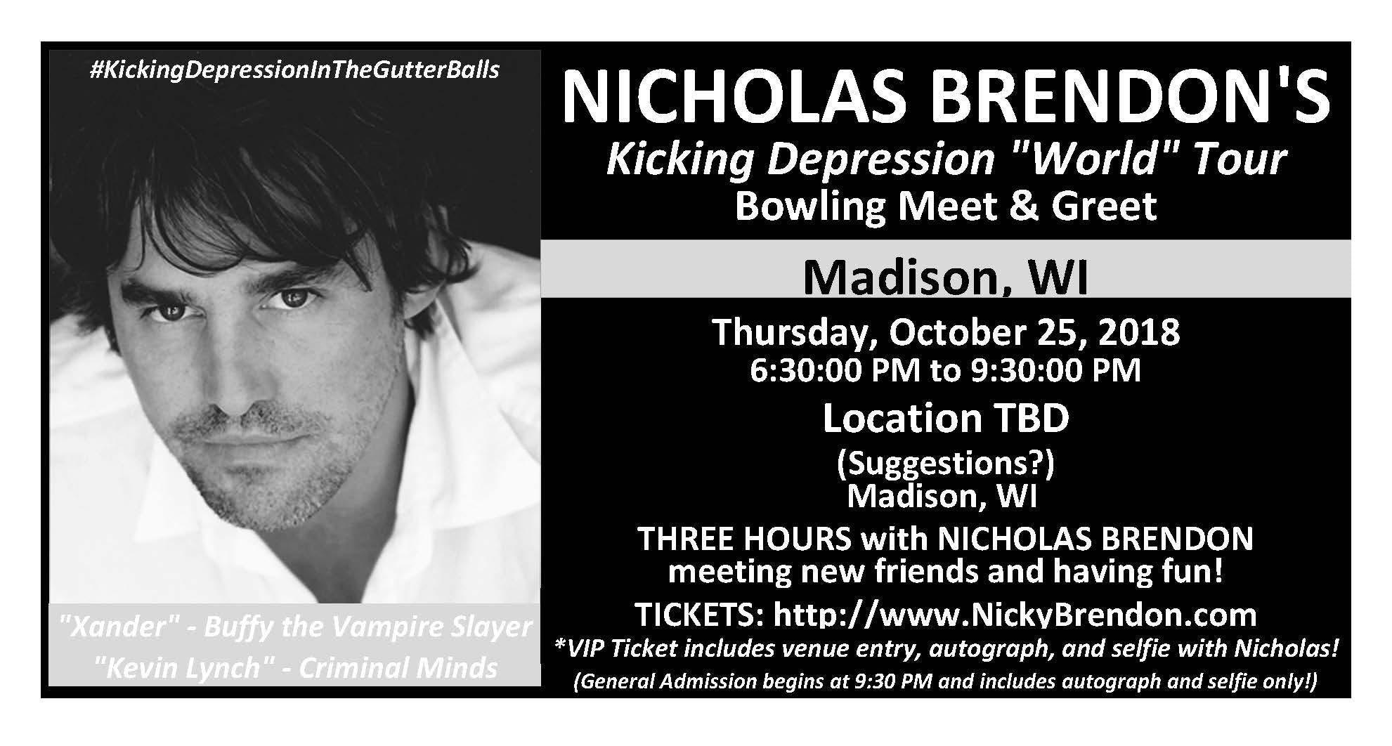 Nicholas Brendon Buffy Criminal Minds Meet Greet Madison At