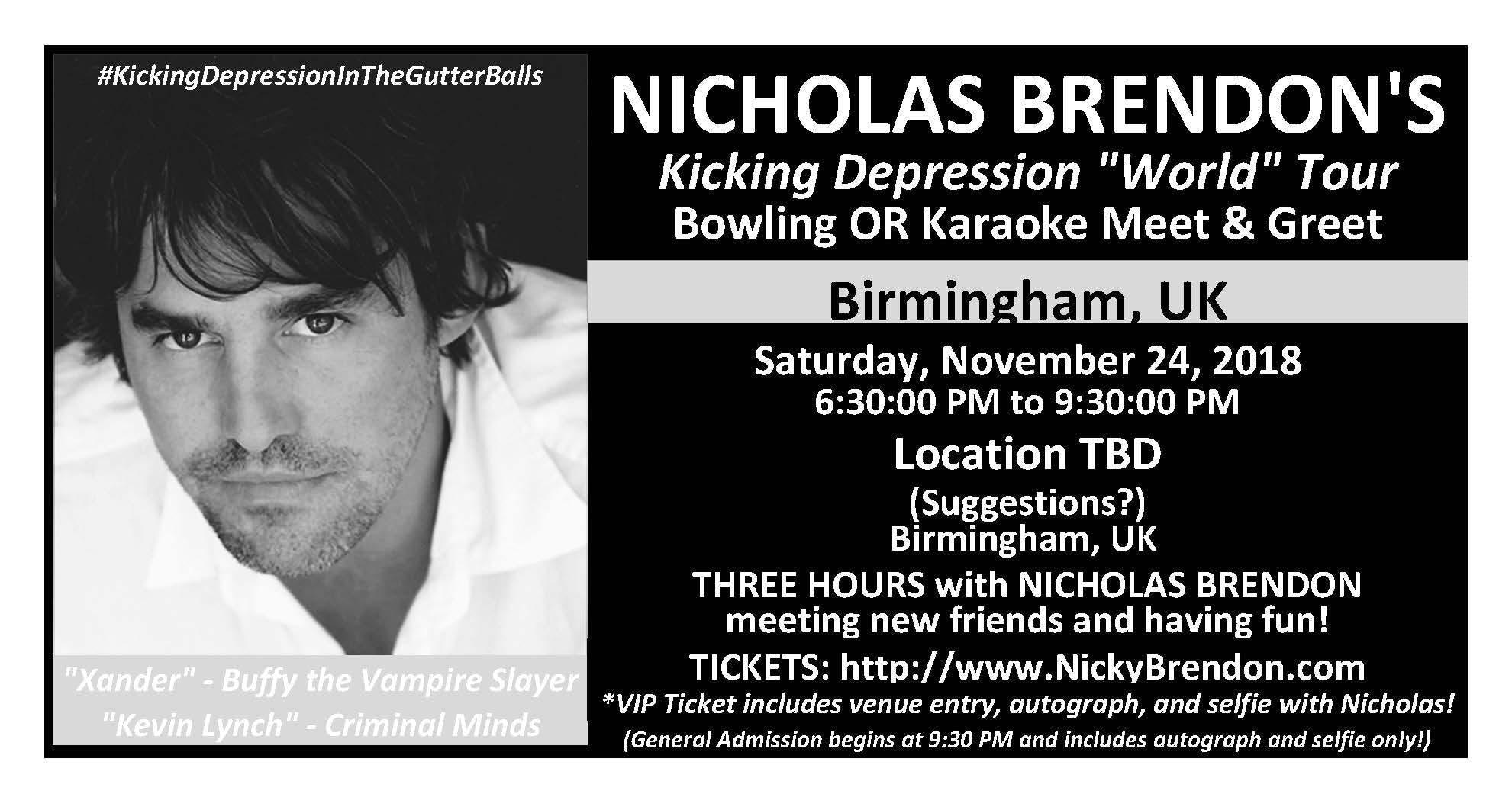 Nicholas Brendon Buffy Criminal Minds Meet Greet Birmingham