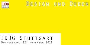 """IDUGS #51 """"Design und Duden"""""""