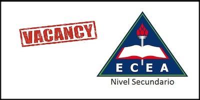 SECUNDARIO ECEA (Solicitud de vacante para 1°año 2020)