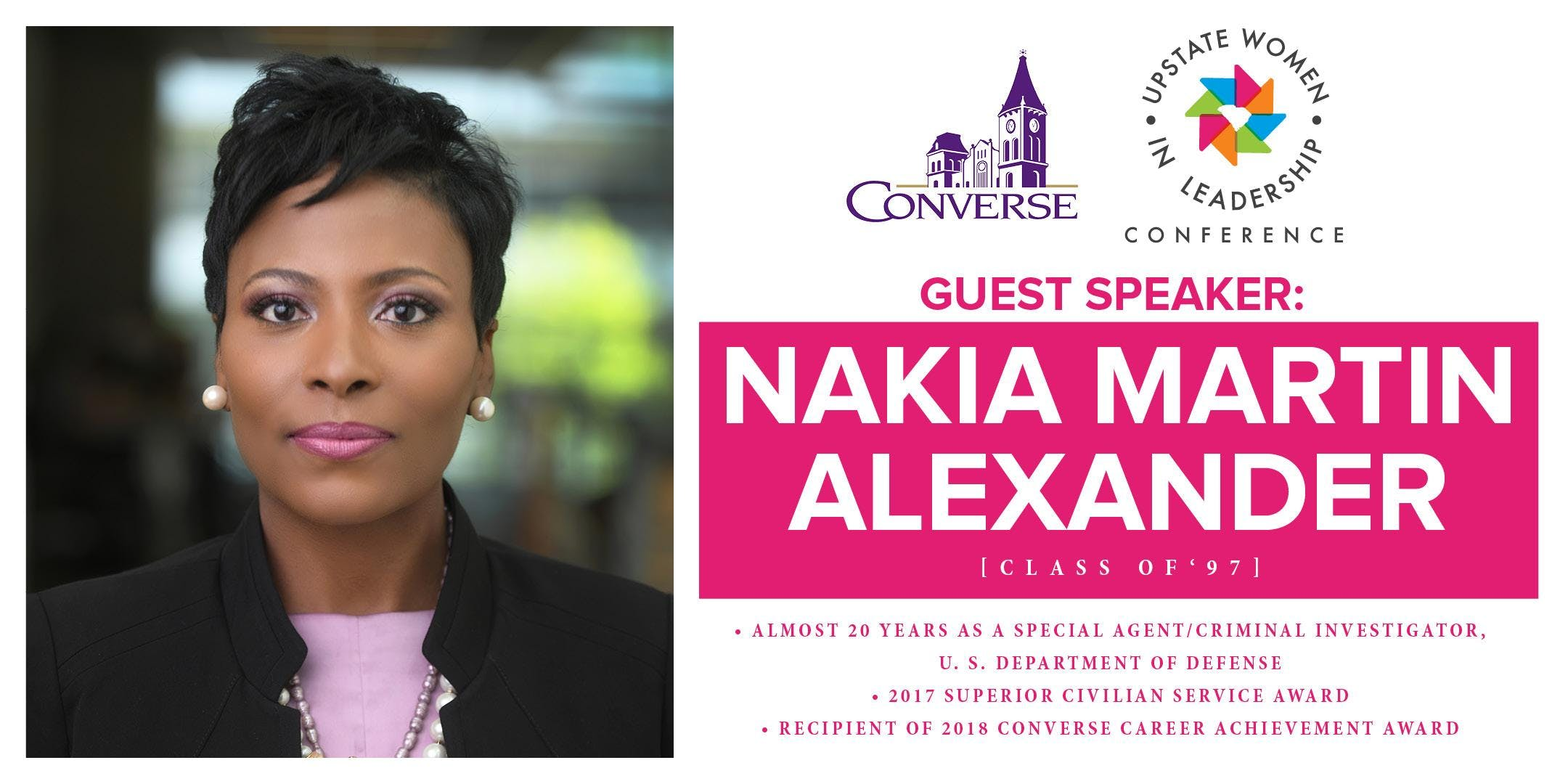 f58c6c8d3c63 Fall Leadership Speaker Nakia Martin Alexander at Hazel B. Abbott ...