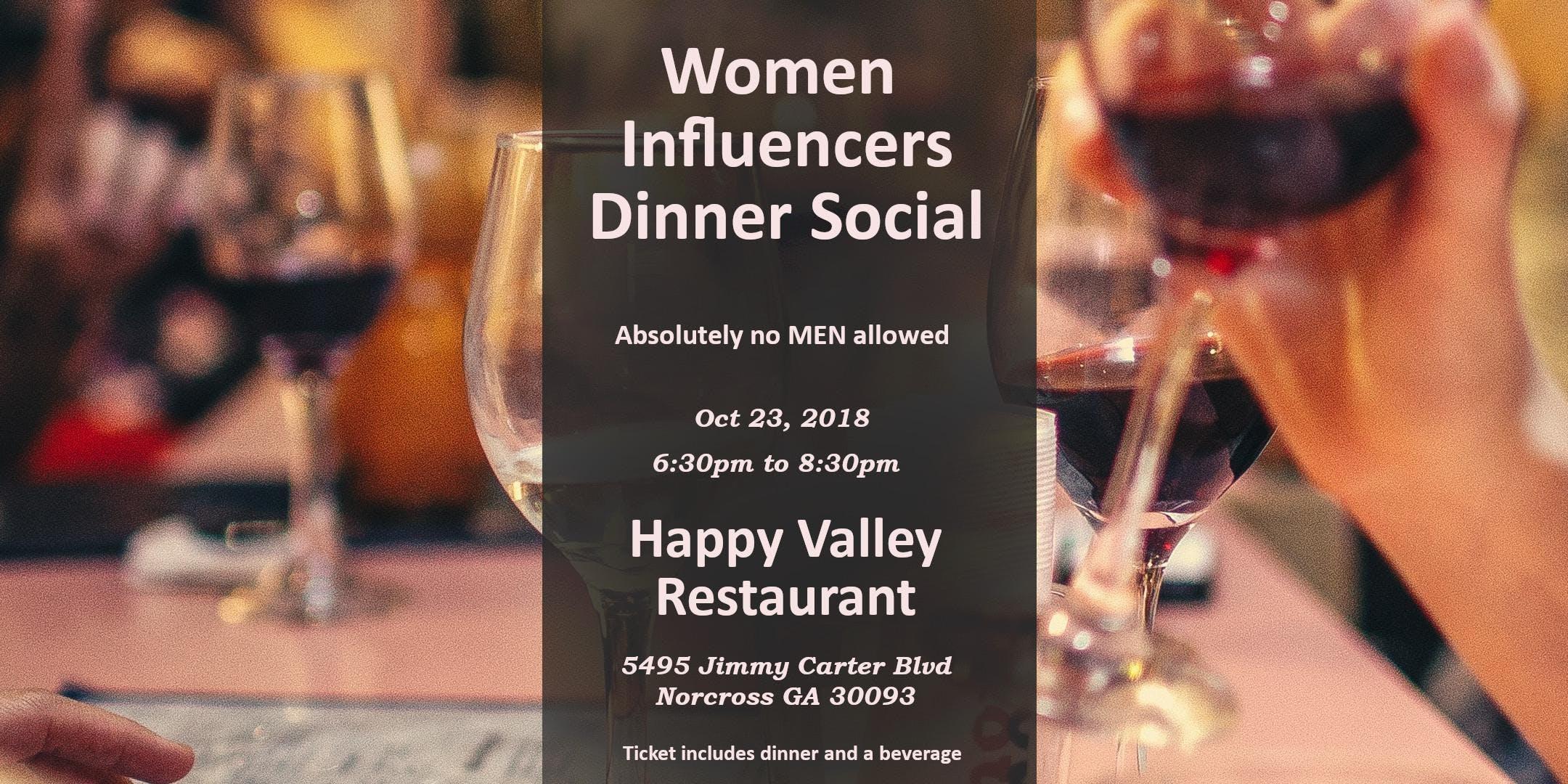 Women Influencers Dinner Social