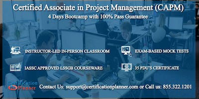 Certified Associate in Project Management (CAPM) 4-days Classroom in Los Angeles