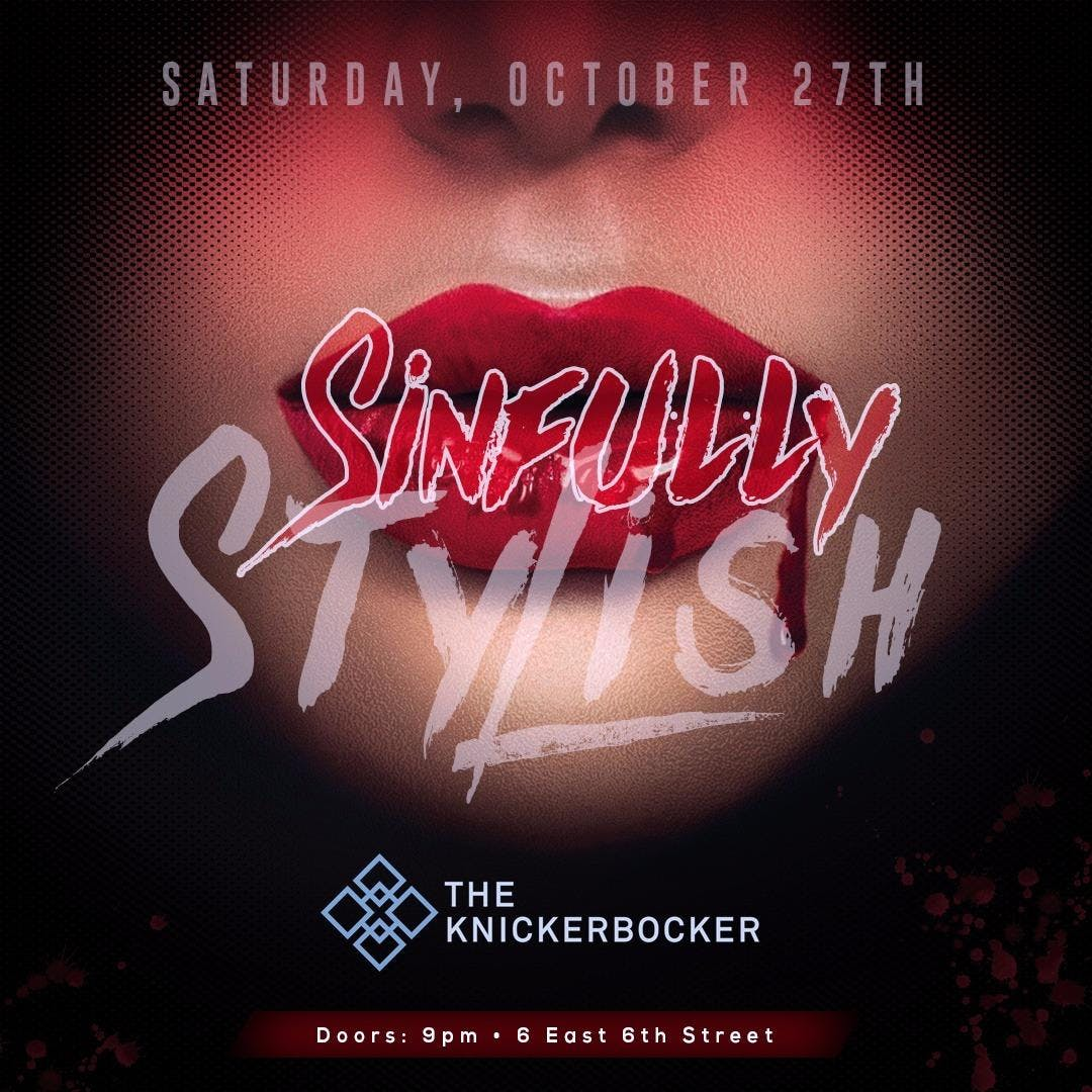 Sinfully Stylish Halloween Party at The Knick